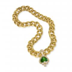 Henry Dunay Gold Necklace with Peridot and Diamonds by Henry Dunay - 1066879