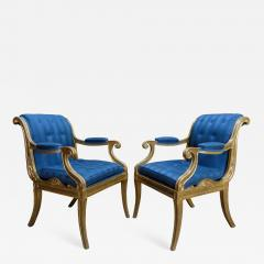 Henry Holland A Pair of Regency Giltwood Armchairs - 876098