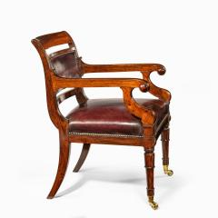 Henry Holland A rosewood library chair in manner of Henry Holland made for Senior Service Club - 1951921