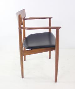 Henry Rosengren Hansen Scandinavian Modern Teak Dining Table Chairs Designed by Rosengren Hansen - 1154488