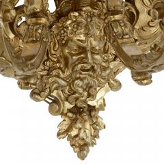 Henry Vian Two large French ormolu three branch wall sconces by H Vian - 1433286
