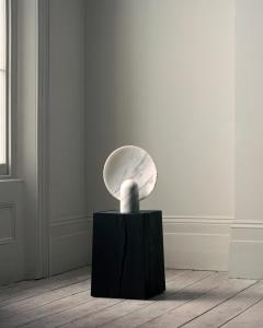 Henry Wilson Sculpted Calacatta Viola Marble Lamp by Henry Wilson - 1413895