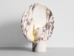 Henry Wilson Sculpted Calacatta Viola Marble Lamp by Henry Wilson - 1413898