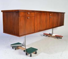 Herbert Hirche Herbert Hirche Minimalist Top Series Rosewood Credenza - 1408411