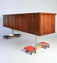 Herbert Hirche Herbert Hirche Minimalist Top Series Rosewood Credenza - 1408412