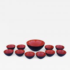 Herbert Krenchel Herbert Krenchel For Krenit Enamel Salad Bowl Set - 1757054