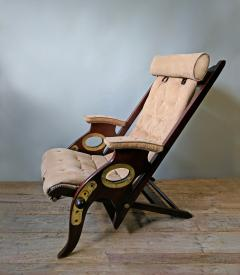 Herbert MacNair A Pair Of Mahogany And Brass Campaign Chairs Circa 1940    353473
