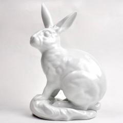 Herend Porcelain White Porcelain Blanc de Chine Rabbit by Eva Vastagh for Herend - 2065705
