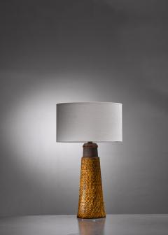 Herman H C K hler K hler ceramic table lamp - 1849916