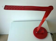 Herman Miller 20th 21st Century Modern Red Enameled Signed Leaf Led Desk Lamp by Yves Behar - 973643