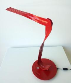 Herman Miller 20th 21st Century Modern Red Enameled Signed Leaf Led Desk Lamp by Yves Behar - 973649