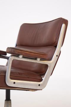 Herman Miller Herman Miller Chairs Model Soft Pad in Brown Leather and Steel - 2136884
