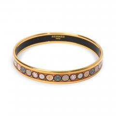 Hermes Vintage Cloisonne Enamel Bangle Bracelet - 1365772