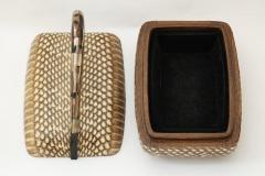 Hermes Wood Silver Plate and Leather Box - 816015