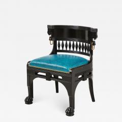 Herter Brothers Herter Brothers ebonized hall chair - 1776582