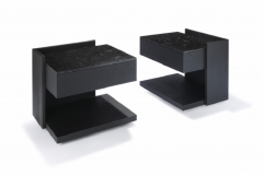 Herv Langlais EQUERRE BEDSIDE TABLE CHARRED WOOD  - 788896