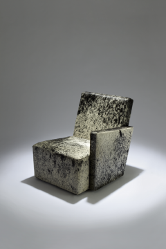 Herv Langlais Petit Frank 1 Armchair with Armrest with Argentinian Cowhide - 814640