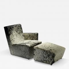 Herv Langlais Petit Frank 1 Armchair with Armrest with Argentinian Cowhide - 815776