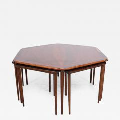 Hexagon Coffee Table And Nesting Tables Danish Mid Century Modern In  Rosewood   403341
