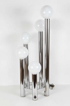 Hexagonal Chrome Tower Table Lamp - 338868
