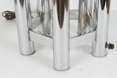 Hexagonal Chrome Tower Table Lamp - 338869