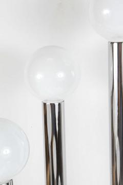 Hexagonal Chrome Tower Table Lamp - 338872