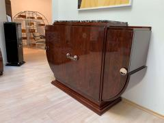 High Art Deco Sideboard Buffet Rosewood Nickel Marble France circa 1930 - 2119136