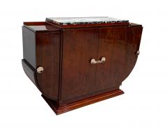 High Art Deco Sideboard Buffet Rosewood Nickel Marble France circa 1930 - 2119138