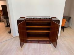 High Art Deco Sideboard Buffet Rosewood Nickel Marble France circa 1930 - 2119139