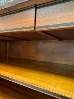 High Art Deco Sideboard Buffet Rosewood Nickel Marble France circa 1930 - 2119140