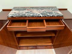 High Art Deco Sideboard Buffet Rosewood Nickel Marble France circa 1930 - 2119141