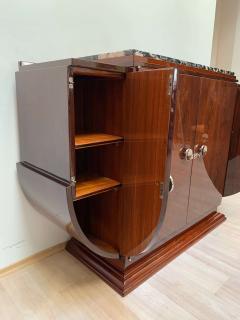 High Art Deco Sideboard Buffet Rosewood Nickel Marble France circa 1930 - 2119143
