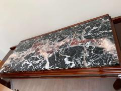 High Art Deco Sideboard Buffet Rosewood Nickel Marble France circa 1930 - 2119145