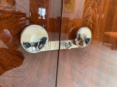 High Art Deco Sideboard Buffet Rosewood Nickel Marble France circa 1930 - 2119146
