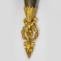 High Quality Pair of Louis XVI Style Gilt and Patinated Bronze Wall Sconces - 1442100