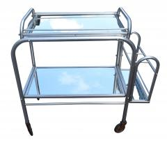 High Style French 1930s Art Deco Chrome Trolley - 1106206