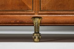 High end Credenza in oak bronze and marble 1930s - 1638206