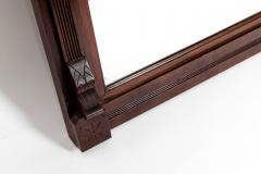 Highly Carved Mahogany Wood Framed Hanging Wall Mirror - 1038029