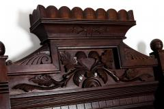Highly Carved Mahogany Wood Framed Hanging Wall Mirror - 1038033