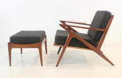 Highly Desirable Z Frame Seating Set Designed by Poul Jensen Selig - 1739991