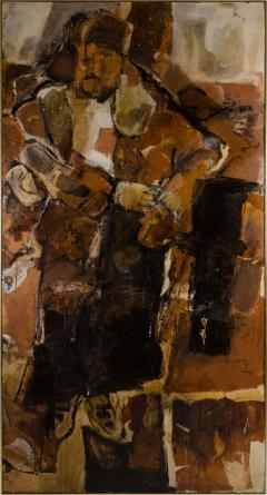 Hilda O Connell Abstract Expressionist Diptych by Hilda OConnell 1965 - 334542