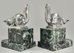 Hippolyte Fran ois Moreau Art Deco Bookends Sculpture of Cats by H Moreau - 1334156
