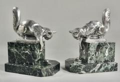 Hippolyte Fran ois Moreau Art Deco Bookends Sculpture of Cats by H Moreau - 1334157