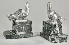 Hippolyte Fran ois Moreau Art Deco Bookends Sculpture of Cats by H Moreau - 1334158