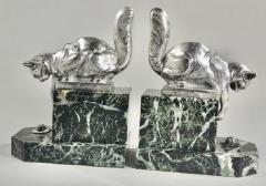 Hippolyte Fran ois Moreau Art Deco Bookends Sculpture of Cats by H Moreau - 1334160