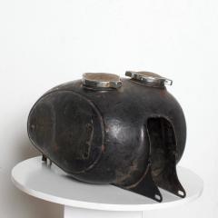 Hipster BLACK Vintage Motorcycle Gas Tank Dual Cap Mod Sportster 1960s - 2083385