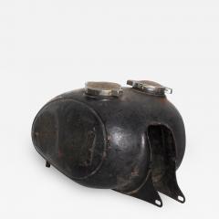 Hipster BLACK Vintage Motorcycle Gas Tank Dual Cap Mod Sportster 1960s - 2083757