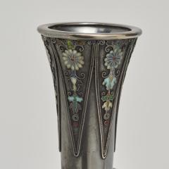 Hirokatsu Mohei A wonderful Japanese slender form silver vase - 1290664