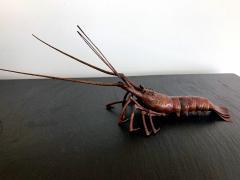 Hiroyoshi Myochin Large Japanese Articulate Lobster Okimono Meiji Period Signed - 1119440