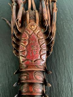 Hiroyoshi Myochin Large Japanese Articulate Lobster Okimono Meiji Period Signed - 1119451